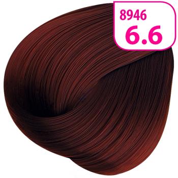 Стойкая СС крем-краска KRASA тон 6.6 Темный блондин красный инте