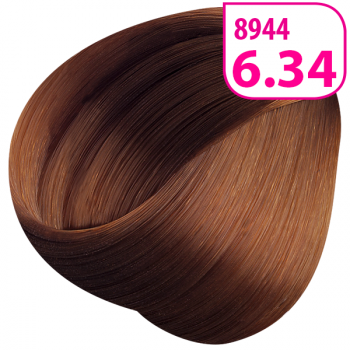 Стойкая СС крем-краска для волос KRASA тон Темный блондин золоти