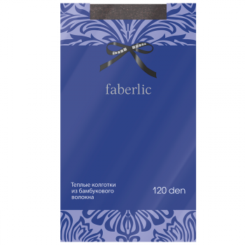 Эластичные колготки Велюр, цвет коричневый меланж, 120 den Faberlic (Фаберлик)