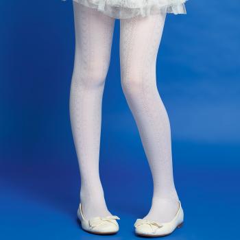 Детские колготки с ажурным узором 20 DEN цвет Белый Faberlic (Фаберлик)