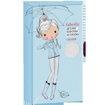 Детские колготки 100 DEN цвет Белый Faberlic (Фаберлик)