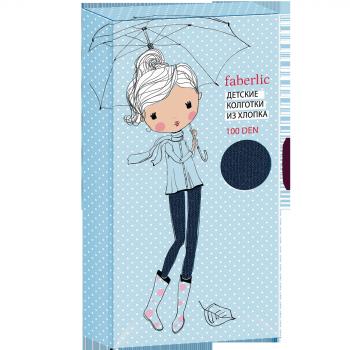 Детские колготки 100 DEN цвет Синий Faberlic (Фаберлик)