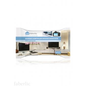Салфетки влажные для экранов и мониторов всех типов Faberlic (Фаберлик)