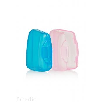 Защитный колпачок для зубной щетки: голубой, розовый