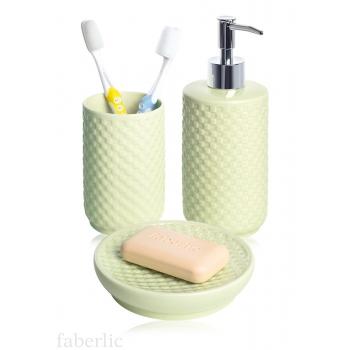 Набор для ванной комнаты зеленый
