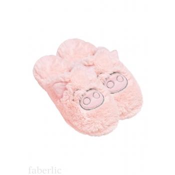 Тапочки женские «Свинка», цвет светло-розовый
