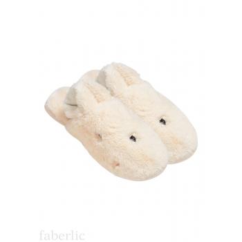 Тапочки женские «Зайка», цвет светло-бежевый
