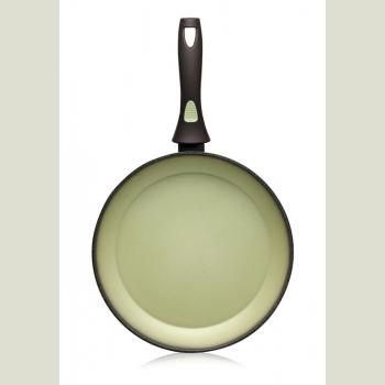 Сковорода с антипригарным покрытием, цвет авокадо, 20 см