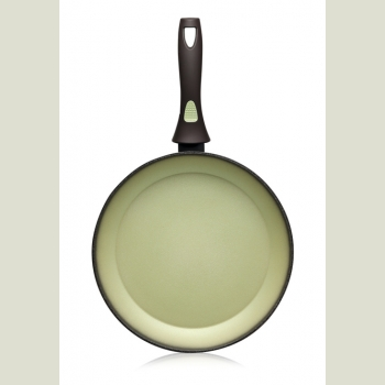 Сковорода с антипригарным покрытием, цвет авокадо, 24 см