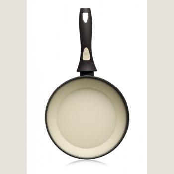 Сковорода с антипригарным покрытием, цвет оливковый, 24 см