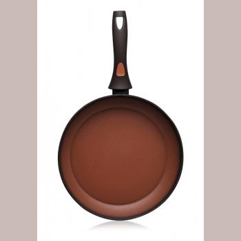 Сковорода с антипригарным покрытием, цвет терракотовый, 24 см