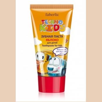 Зубная паста для детей «Яблоко» Faberlic (Фаберлик) серия TECHNO KIDS