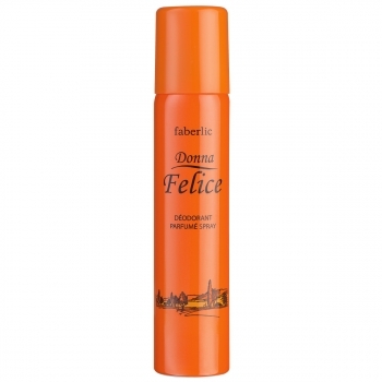 Парфюмированный дезодорант в аэрозольной упаковке для женщин Donna Felice Faberlic (Фаберлик)