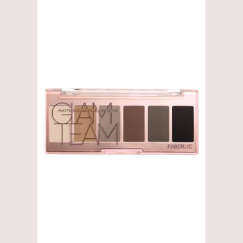 Палетка теней для век и бровей Nude On Faberlic (Фаберлик) серия Glam Team