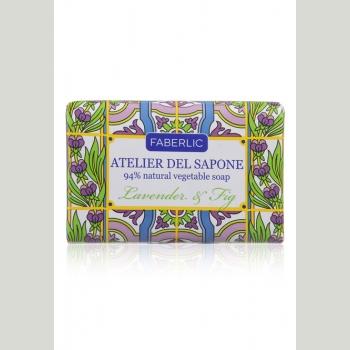 Мыло натуральное кусковое «Лаванда и инжир» Atelier del Sapone