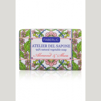 Мыло натуральное кусковое «Миндаль и ши» Atelier del Sapone