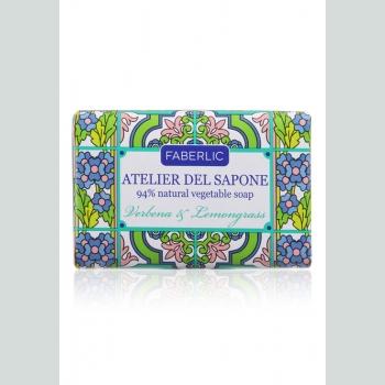 Мыло натуральное кусковое «Вербена и лемонграсс» Atelier del Sapone