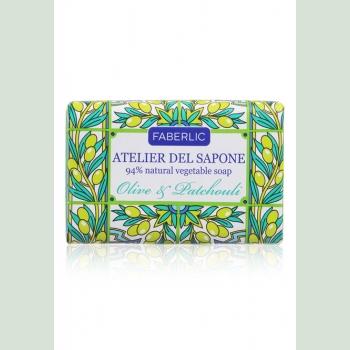 Мыло натуральное кусковое «Олива и пачули» Atelier del Sapone