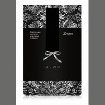 Колготки в крупный горошек SF201, плотность 20 den, цвет чёрный Faberlic (Фаберлик)