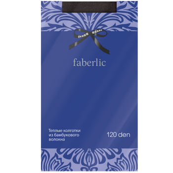 Эластичные колготки Велюр, цвет черный меланж, 120 den Faberlic (Фаберлик)