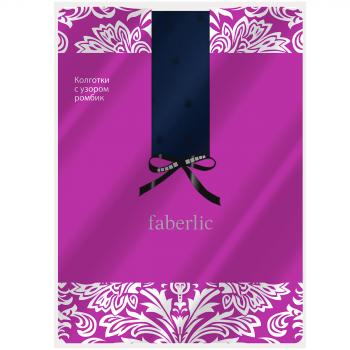 Эластичные колготки с рисунком Ромбик цвет синий, 20 den Faberlic (Фаберлик)