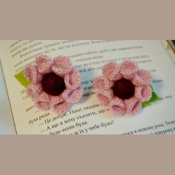 Резинки вязаные розовые мал
