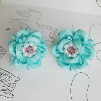 Резинки маленькие цветок  репс
