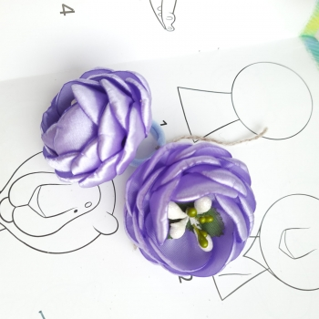 Резинки пиончики фиолетовые