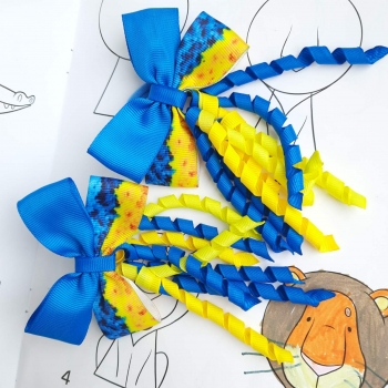 Резинки бантики Патриот спиральки