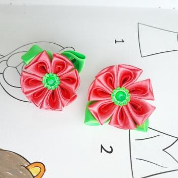 Резинки мал цветочек атлас
