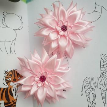 Резинки атлас большие розовые