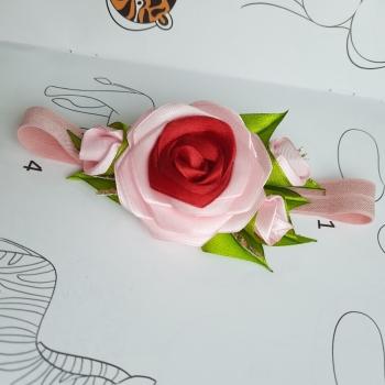 Повязка для малышки роза
