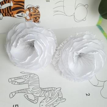 Резинки белые банты атлас круж