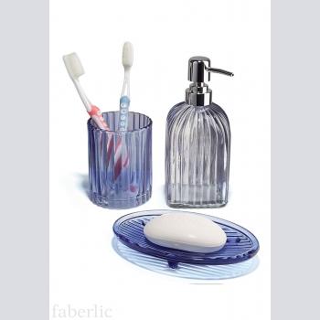 Набор для ванной комнаты, цвет синий