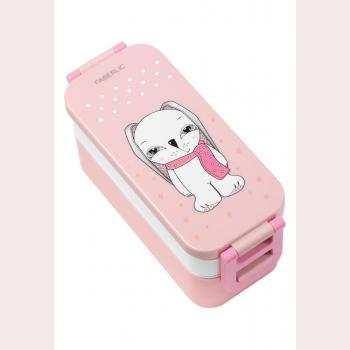 Ланчбокс Bunny, цвет бело-розовый