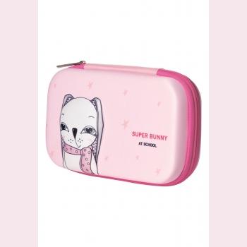 Пенал Bunny, цвет розовый
