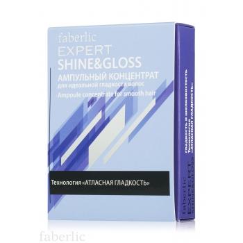 Ампульный концентрат для идеальной гладкости волос Shine & Gloss